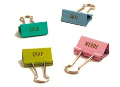 """LOVE these """"shit clips."""" I feel like everything I ever need to clip together really is crap I don't really want to deal with. On sale for only $4.75"""