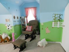 super cute farm nursery