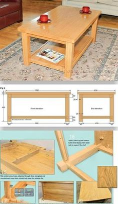 DIY Coffee Table - Furniture Plans and Projects | WoodArchivist.com
