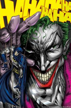 Joker and Batman by Hugh Rookwood Héros Dc Comics, Batman Comics, Joker Batman, Batman Robin, Batman Arkham, Comic Book Characters, Comic Books, Batman Painting, Batman Artwork