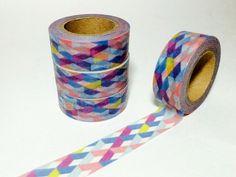 Rainbow Cross Hatch Washi Tape by DaisyGreyPretties on Etsy