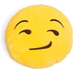 Smirking Emoji Pillow ($15) ❤ liked on Polyvore featuring home, home decor, throw pillows and plush throw pillows