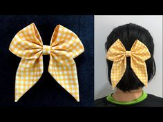 Fabric Hair Bows, Diy Hair Bows, Diy Lace Ribbon Flowers, Hair Bow Tutorial, Bandeau, Diy Hairstyles, Creative, Neck Design, Handmade