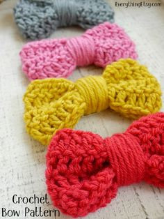 Crochet Bow Tutorial - Pattern on EverythingEtsy.com