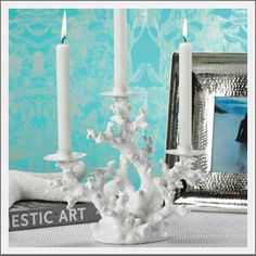 coral reef candle holder