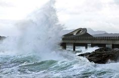 The most dangerous places to drive in the world: Atlantic Ocean Road, Norway Atlantic Road Norway, Atlantic Ocean, Yungas Road, Dangerous Roads, Romantic Road, Valley Of Fire, Filming Locations, Photos Du, Salzburg