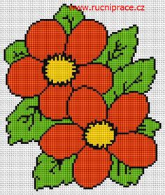 Flowers, free cross stitch patterns and charts - www.free-cross-stitch.rucniprace.cz