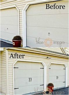Easy DIY Curb Appeal Ideas On A Budget That Will Totally Transform Your HomeCurb Appeal Ideas On a Budget. Today we present you one collection of Easy and Cheap DIY Curb Appeal Ideas Garage Door Hardware, Garage Doors, Barn Doors, Sliding Doors, Garage Door Makeover, Garage Door Handles, Barnwood Doors, Garage Exterior, Diy Exterior