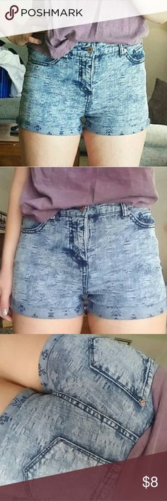 Aztec Print High Waisted Shorts Only wore twice. In beautiful condition. Very cute. Shorts Jean Shorts