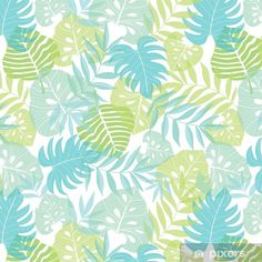 Vector light tropical leaves summer hawaiian seamless pattern with tropical green plants and leaves on navy blue background. Great for vacation themed fabric, wallpaper, packaging. - Buy this stock vector and explore similar vectors at Adobe Stock Green Floral Wallpaper, Navy Blue Background, Tropical Leaves, Green Plants, Blue Backgrounds, Royalty Free Images, Backdrops, Plant Leaves, Hawaii