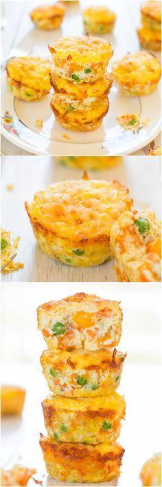100-Kalorien-Käse, Gemüse und Ei-Muffins (GF) - gesund, leicht und nur 100 Kalorien!  Sie werden einen Vorrat an Hand zu halten wollen!