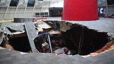 Sad. Sinkhole opens up at National Corvette Museum, swallows cars