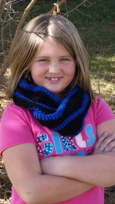 Black and blue cowl - pinned by pin4etsy.com