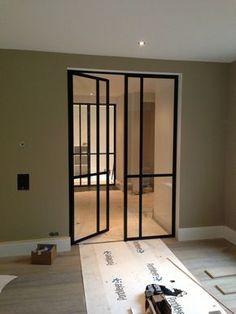 Preferro Stalen Deuren   Taatsdeuren, schuifdeuren Wooden Glass Door, Steel Doors And Windows, Internal Wooden Doors, Interior Windows, Interior Decorating, Interior Design, Kitchen Doors, Iron Doors, Entrance Doors