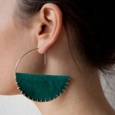 Suede & silver earrings there has to be a way to diy this...