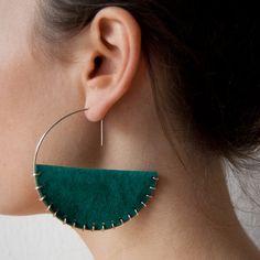 Suede & silver earrings