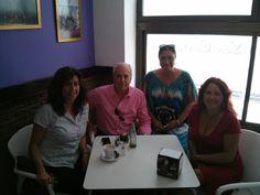 Con el escritor Eduardo Mendicutti y algunos alumnos de los cursos de la UCA
