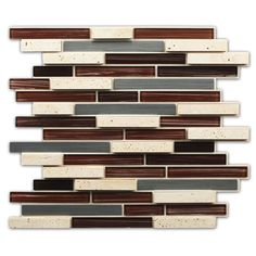 Instant Mosaic 12-inch x 12-inch Peel and Stick Multi Material Tile (6 sq.ft.)
