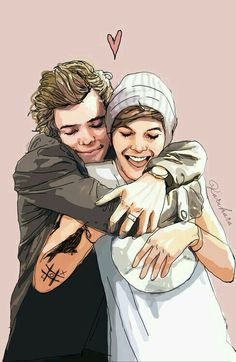 babes // probably my most favorite larry fanart ever! credits to whoever made…