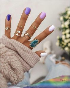 Pretty in Pastel nail colors & designs to try this season - .- Pretty in Pastel nail colors & designs to try this season – Fab Wedding Dress, Nail art designs, Hair colors , Cakes - White Nail Designs, Colorful Nail Designs, Nail Art Designs, Pastel Nails, Purple Nails, Ten Nails, Manicure, Dream Nails, Nagel Gel