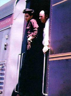 Elvis leaving Memphis on the train to Dallas in April 18 1960.