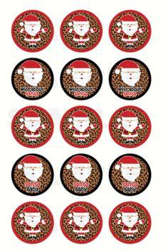 Wild About Santa Christmas Bottle Cap Images  4x6 by DigiPrintz, $1.25