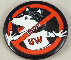 Vintage WSU Apple Cup Dawgbusters Button Circa 1984 Cougars UW Huskies Rivalry #WashingtonStateCougars