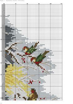 Фотография Cross Stitch Bird, Cross Stitch Flowers, Counted Cross Stitch Patterns, Cross Stitch Charts, Cross Stitching, Cross Stitch Embroidery, Embroidery Patterns, Cross Stitch Landscape, Beaded Cross