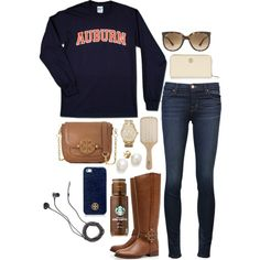lazy day, created by the-southern-prep on Polyvore