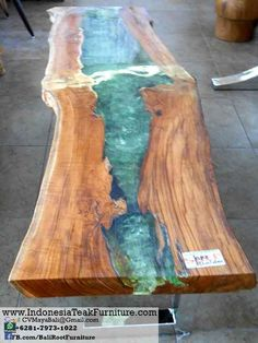 timber tables with coloured resin - Google Search