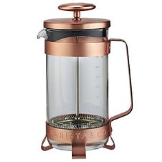 Barista & Co Copper 8 Cup Cafetiere - from Lakeland