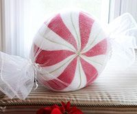 Tracing paper; pencil; scissors  1/2 yard white fleece or white felt  Scraps of hot pink felt  1-1/2 yards narrow lime green cording  1 yard iridescent white netting fabric  1-1/4 yard of 1/2-inch-wide iridescent medium rickrack  Matching sewing threads; fabrics glue  14-inch round pillow form  #Christmas