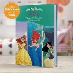 This unique book contains stories about three of the most popular Disney Princesses of all-time. Each story highlights the bravery that the princesses hold, as they strive to help their friends and family. Princesses Ariel, Belle, and Mulan, all s. Disney Princess Stories, Personalised Childrens Books, Personalised Gifts, Official Disney Princesses, Disney Gift, Kids Story Books, The Book, Story Highlights, Popular