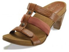 70947f360752 Kayla Adjustable 3 Strap Slide - Wheat Ginger - Womens Comfortable Shoes