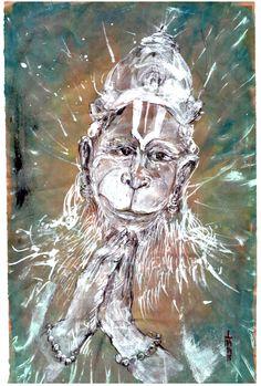 Saturday, April 4, 2015 Daily drawings of Hanuman / Hanuman TODAY / Connecting with Hanuman through art / Artwork by Petr Budil [Pritam] www.hanuman.today
