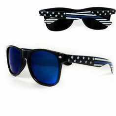 0d91c0e5ef The New Thin Blue Line Sunglasses provide your eyes protection from the sun  while showing your support of American Police and Law Enforcement!
