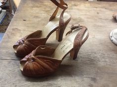 Vintage Tooled Shoes by 3birdz on Etsy