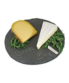 Take a look at this Round Slate Cheese Board & Chalk by True Fabrications on #zulily today!