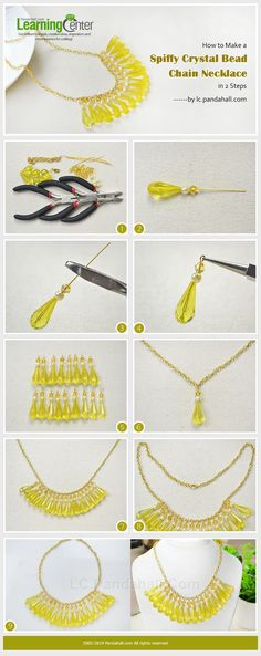 How to Make a Spiffy Crystal Bead Chain Necklace in 2 Steps