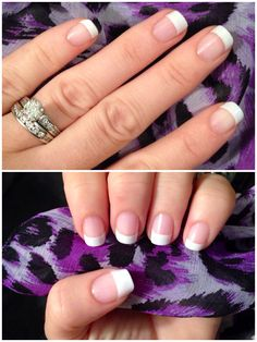 My new fav... French manicure jamberry nail wraps!! Love! White tip (medium)