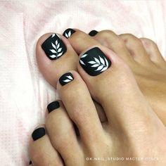 Black Toe Nails, Cute Toe Nails, Red Acrylic Nails, Dope Nails, Swag Nails, Gel Nails, Fall Pedicure, Pedicure Nail Art, Manicure