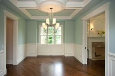 looks like our new DR with square bay window and tray ceiling...also door moulding the same too