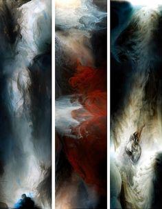 Lu Jun. Stunned [3 x 300 x 45cm] '2008 pigment printing