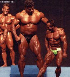 Ferrigno and Baccianini at 1993 Mr. Olympia