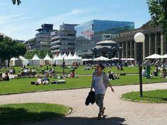 Schlossplatz Stuttgart, Chillen im Juni 2014
