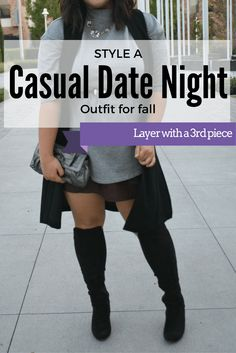 Finding an outfit for a casual first date during the holidays is hard. It's especially hard with you are curvy and plus size. You don't want to show up over dressed or under dressed. Utilize layers for the perfect casual holiday look.