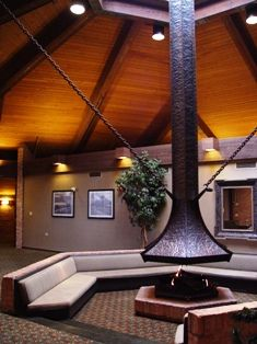 The inviting fireplaces near the banquet rooms