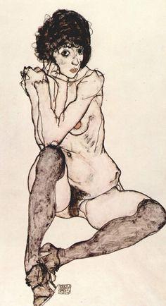 Egon Schiele (1890-1918) - Student of Klimt