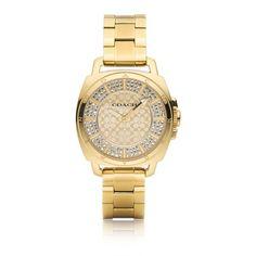 COACH Mini Boyfriend Gold Plated Bracelet Watch