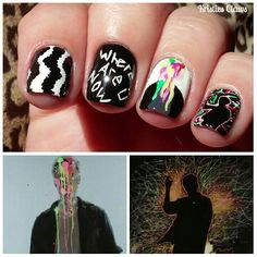 Skrillex Diplo Justin bieber where are u now nails @kristies_claws